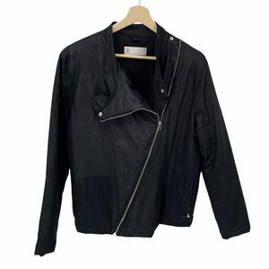 Adidas SLVR Black Asymmetrical Moto Bomber Jacket